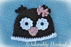 Loopy Flower Owl Hat