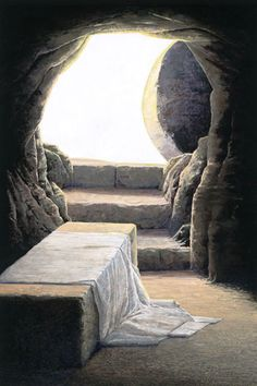 """""""No force beneath the heavens could hold back the power of the Son of God. It was as if His Almighty Father could stand no more. The earth trembled. The guards fled. The stone was moved. The Lord arose… and stepped forth to become the first fruits of them that slept. The empty tomb bore testimony of this greatest of all miracles."""" –Gordon B. Hinckley"""