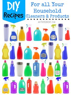 Make your own household products by following these recipes for chemical-free cleaners.