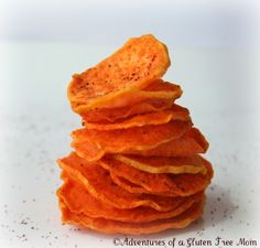 Sweet Potato Chips! maybe some cinnamon and sugar on top..yum!