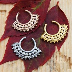 Different beaded hoop ear rings