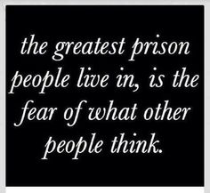 #The fear of what people think. People are not always gonna agree with us and that's ok. We can't please people but we can please God.
