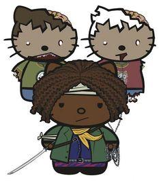 Michonne & Walkers