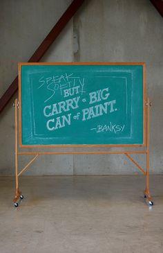 Week 1: Banksy by DANGERDUST, via Behance