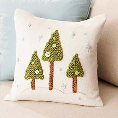 Make a Winter Wonderland Pillow