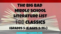 The Big Bad Middle School Literature List