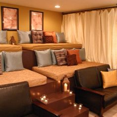 Love this for a theater room!
