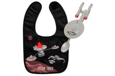 Star Trek bib and spoon...I'm going to be the coolest aunt ever.