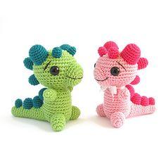 Crocheted Rattle - Baby Dragon by Kristi Tullus