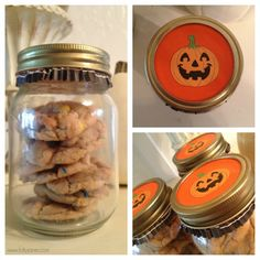 Cookies in a mason jar with a cupcake liner for the lid for cheap but cute a neighbor gift!