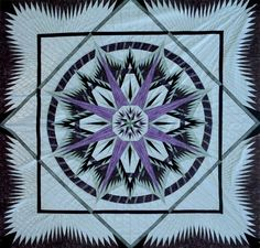 Mariner's Compass  ~ Quiltworx.com by Certified Instructor, Andrea Schnur