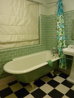 Attractive Olive Green Bathroom Wale Tiles Compliments The Yellow Flower And White Sink