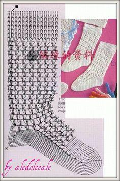 crochet socks - diagram