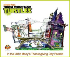 Teenage Mutant Ninja Turtles float concept art for Macy's Thanksgiving Day Parade unveiled