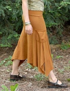 Forest Skirt/Hemp and Organic Cotton by CircleCreations on Etsy, $62.00