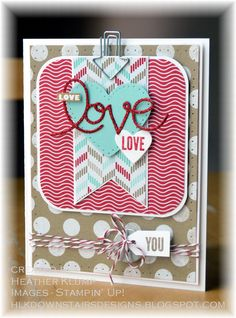 Stampin' Up! Valentine by Downstairs Designs: Love, Love, Love