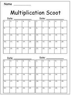 Cool game for multiplication!