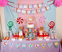 Candyland Dessert Table and Backdrop