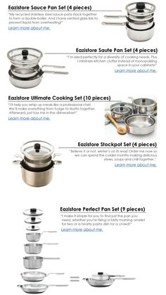 Eco-Friendly, Space-Saving Eazistore Cookware