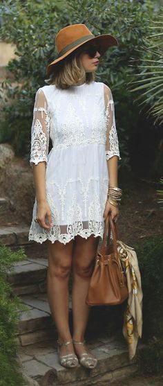 Gorgeous Lace Embroidered Mesh Dress