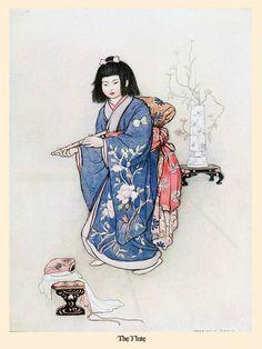 en illustrati, japanes fairi, flutes, green willow, warwick gobl, fairi tale