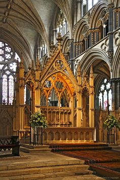 Lincoln Cathedral in Lincolnshire, England