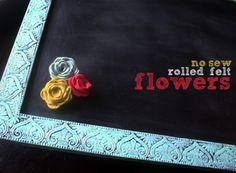 no-sew rolled felt flowers