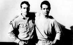 "Jack Kerouac and Neal Cassidy  ""..the only people for me are the mad ones. The ones who are mad to live, mad to talk, mad to be saved, desirous of everything at the same time, the ones who never yawn or say a commonplace thing, but burn, burn, burn, burn like the fabulous yellow roman candles exploding like spiders across the stars..."""