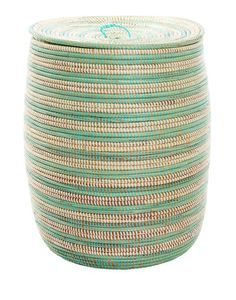 {The Little Market} striped hamper