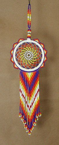 how to make a beaded dream catcher