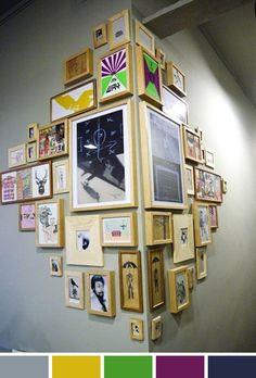 corner gallery wall- genius!
