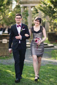 Bridesmaid and groomsman; Lauren & Jon's wedding at Alder Manor // Photo: Jonathan Young