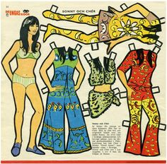 1970s Cher paper doll