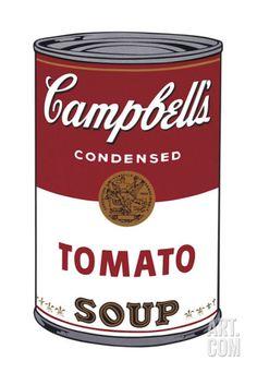 tomato, gicle print, campbel soup