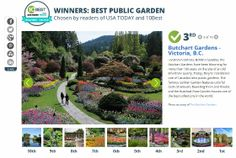 #3 Best Public Garden: @Matty Chuah Butchart Gardens USA Today 10Best