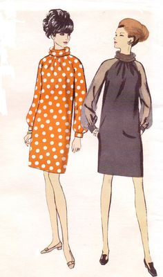 Vintage 1960s Vogue Sewing Pattern 7306 Womens Mod by CloesCloset, $30.00