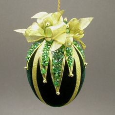 Towers & Turrets Green Velvet Egg with Czech by TowersAndTurrets, $36.00