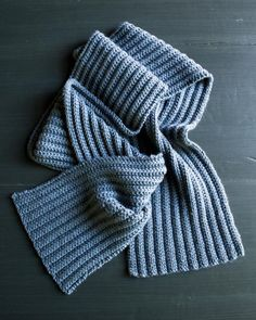 No Purl Ribbed Scarf By Purl Soho - Free Knitted Pattern - (purlbee)