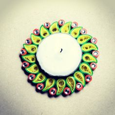 Product: Quilled Candle Lit Diya / Holder Code: 012 For Details: letscreatequills@gmail.com