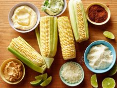 dinner with corn on the cob
