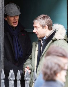 Benedict Cumberbatch And Martin Freeman Film Sherlock