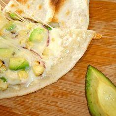 Roasted Corn Quesadilla with Avocado