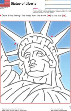 A-Mazing Lady Liberty! Worksheet