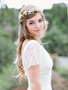Bridal crown wedding headband Rustic wreath by whichgoose, $60.00 this may be the one..