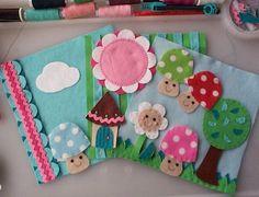 mushroom, color, quiet books, book pages, felt board