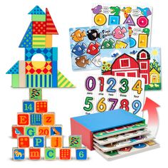 {Early Learning Set} It's a preschooler power pack! Learning ABCs, 123s, shapes, and colors has never been easier. Set your child up for learning fun with these three educational preschool toys.