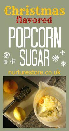 Christmas flavored popcorn recipe