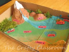 Landform Diorama Craft-Five in A Row Grandfather's Journey This one includes tutorial as well as links to flashcards, etc. www.thecraftyclassroom.com
