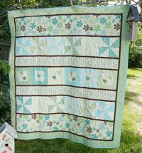 Early Birds by ZJ Humbach in Best Fat Quarter Quilts 2014.
