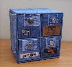 Как использовать лоскутки джинсов (подборка). Комментарии : LiveInternet - Российский Сервис Онлайн-Дневников cover cube, awesom diy, denim drawer, box, blue jean, diy project, diy idea, denim cover, drawers